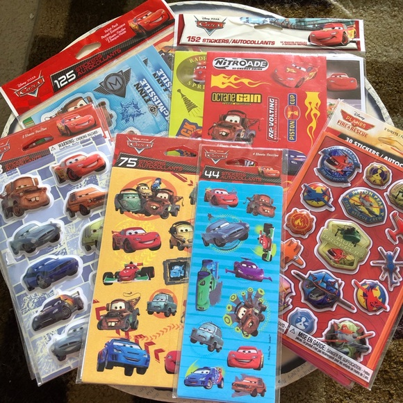 Other - Disney Cars & Planes Sticker Lot 540 stickers